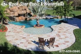 rock waterfalls for pools wonderful designs swimming pool waterfall designs