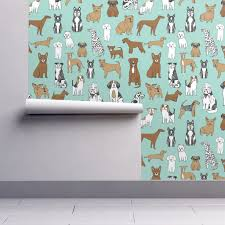 dogs mint cute pets dog breeds hand drawn illustration dog