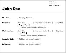 Simple One Page Resume Sample by Simple Resumes Templates Resume Template Simple Resume