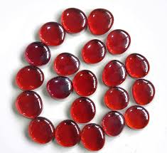 Vase Stones Aliexpress Com Buy Red Glass Marbles 80 Pieces Flat Beads Pebble