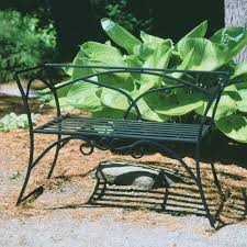 amazon com wrought iron arbor bench with back outdoor benches