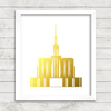 Lds Home Decor by 8x10 Instant Download Seattle Washington Lds Temple Gold