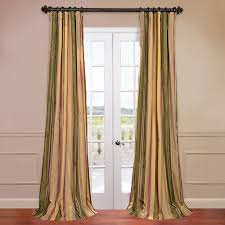 stripe faux silk taffeta window curtain