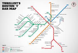 Map Of Boston Ma Boston U0027s First Map Of Bars Near The T Mbta Bar Map Thrillist