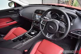 jaguar cars interior 2016 jaguar xe r sport 20t review video performancedrive