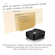 hd 3d projectors for home theater slg gp70 dtv dvbt or atsc tv led projector with svga resolution