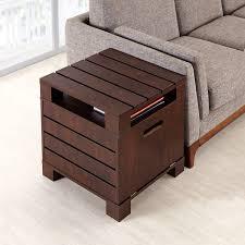 furniture of america crete vintage walnut coffee table furniture of america crete vintage walnut drop down door end table