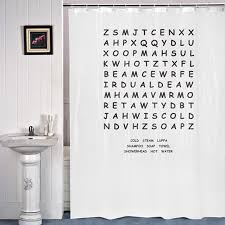 Words Shower Curtain Keep Yourself Entertained In The Bathroom With This Word Search