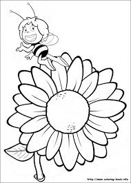 maya bee coloring pages coloring book