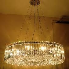 Modern Round Crystal Chandelier Circular Crystal Chandelier 14 Lights Modern Circular Golden