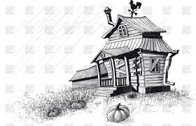cottage clipart creepy pencil and in color cottage clipart creepy