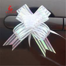 pull ribbon 10pcs high quality organza pull flower ribbon bow gift wrap candy