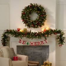 pre lit wreaths greenery