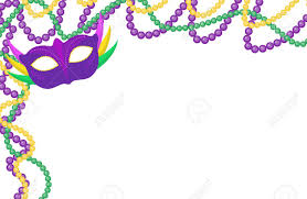 mardi gras frame mardi gras colored frame with a mask isolated on white