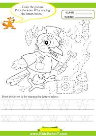 Writing The Alphabet Worksheets Kids Under 7 Alphabet Worksheets Trace And Print Letter W