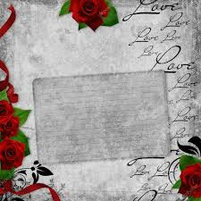 Card For Invitation Or Congratulation With Red Rose In Vintage Romantic Vintage Background With Red Roses U2014 Stock Photo O April