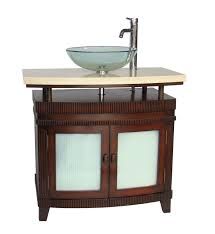 Bathroom Vanities Free Shipping by Adelina 36 Inch Vessel Sink Bathroom Vanity Red Cherry Finish