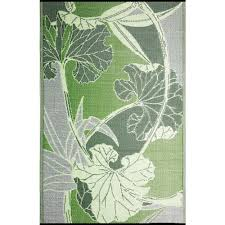patio area rugs b b begonia blossom green grey 8 ft x 20 ft designer outdoor rv