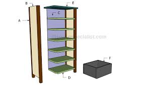 tall cabinet plans howtospecialist how to build step by step