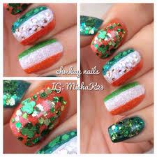 ehmkay nails happy st patrick u0027s day nails ireland flag and