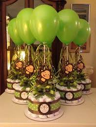 monkey baby shower decorations monkey baby shower diapers centerpiece with balloon green brown
