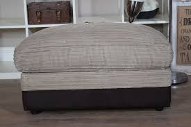 bailey harley large storage footstool brown beige