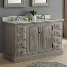 infurniture 60 inch rustic driftwood marble quartz double sink