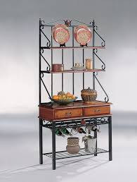 Metal Bakers Rack Chelfs Helper Dirty Oak