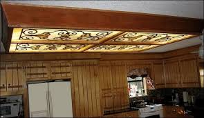 Kitchen Fluorescent Light Covers by Make Decorative Fluorescent Light Covers Decorating Ideas