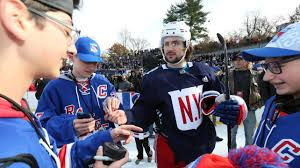 new york rangers fans rangers gear up for winter classic with outdoor practice