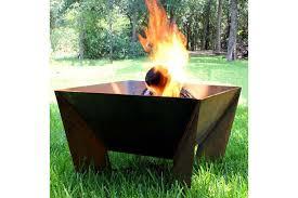 Metal Firepit Metal Pit Square Metal Pit Pit Design Ideas Sos