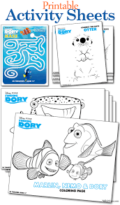 free printable finding dory activity sheets coloring pages