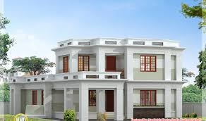 roof flat roof modern home design kerala house plans including