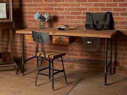 Wooden Desk Chairs With Wheels Design Ideas Design Ideas Reclaimed Wood Desk With Industrial Legs 8 Pieces