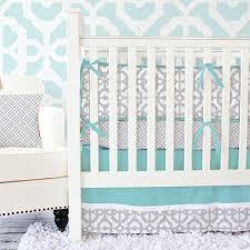 Nursery Bedding Set Gray Mod Lattice Baby Bedding Collection Caden Lane