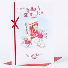 christmas card brother u0026 sister law 79p