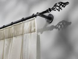 classic style wrought iron curtain rod itaca by scaglioni