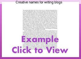 creative names for writing blogs essay writing service