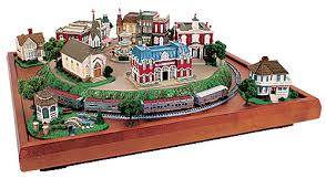 table top train set micro seasons liberty town usa finished train set z scale hobo