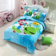 Mario Bros Bed Set Mario Bros Duvet Quilt Cover Cotton Bedding Set Flat