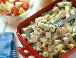 ham u0026 rigatoni casserole pork recipes pork be inspired