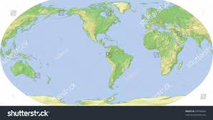Biome World Map by World Map Centered On America Shaded Stock Illustration 23748484