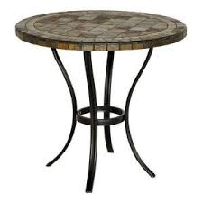 Patio Bistro Table Hton Bay 30 In Slate Patio Bistro Table Homestead