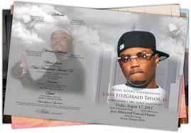 funeral programs printing beloved memories