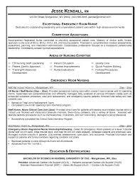 Sample Resume For Nursing by Er Nurse Resume Haadyaooverbayresort Com