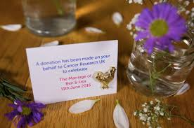 alex monroe wedding favours for cancer research uk love our wedding