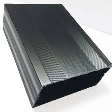 black casket online shop split extruded aluminum box pcb enclosure