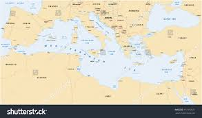 Adriatic Sea Map Mediterranean Sea Map Stock Vector 157119521 Shutterstock