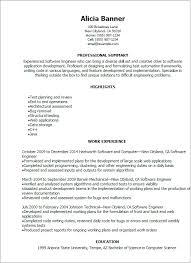 Qa Engineer Resume Example Software Developer Resume Software Engineer Resume Best Software
