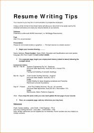 Job Resume Biodata by Graduates Onepage Sample Resume Format Example Resume Format For
